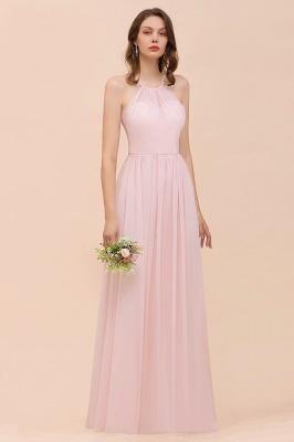Schicke Brautjungfernkleider Lang Rosa   Chiffon Kleider Günstig_6