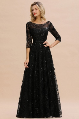 Evening dress long black | Prom dresses with sleeves_2
