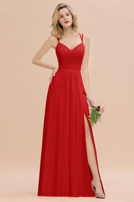 Coral Brautjungfernkleider Lang Günstig   Hochzeitsgäste Kleider_8