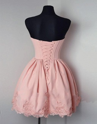 Elegant cocktail dresses short pink with lace evening dress party dresses_2