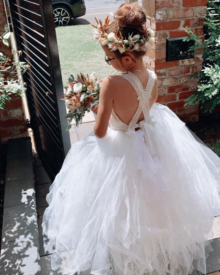 Flower girl dress lace | Flower girl dresses cheap tulle_3