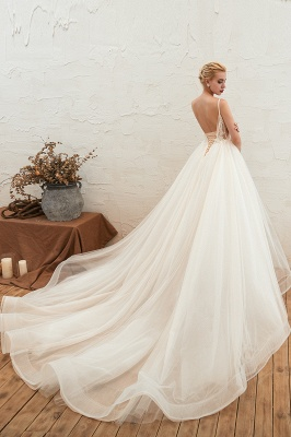 Elegant wedding dresses A line | Wedding dresses with lace online_14