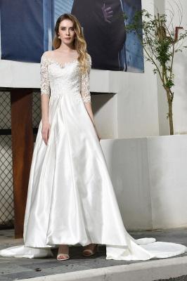 Standamt Hochzeitskleid A Linie | Brautkleider Lange Ärmel_8