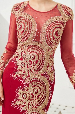 Evening dress long red | Prom dresses with sleeves_14