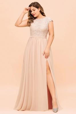 Champagne Übergroße Brautjungfernkleider | Brautjungfernkleid Große Größe_8