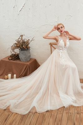 Schöne Hochzeitskleid A linie | Brautkleider Günstig Online Kaufen_7