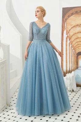 Evening dresses blue | Prom dresses long with sleeves_2