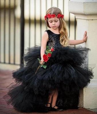 Beautiful Black Flower Girl Dresses | Flower girl dress long_5