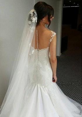 Made to measure wedding dresses white lace mermaid straps wedding fashions bridal fashions_3