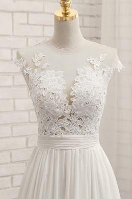 Summer Chiffon Kleider Für Hochzeit | Brautkleider A Linie Mit Spitze_6