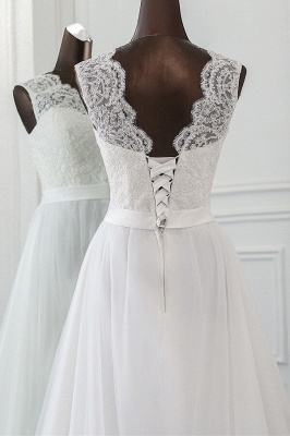 Designer wedding dress A line | Bridal wear with lace_6