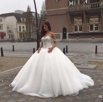 Prinzessin Brautkleider Mit Spitze Perlen Organza Hochzeitskleider Brautmoden_3