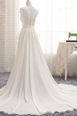 Summer Chiffon Kleider Für Hochzeit | Brautkleider A Linie Mit Spitze_5