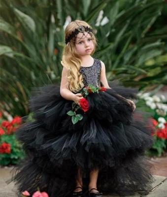 Beautiful Black Flower Girl Dresses | Flower girl dress long_4
