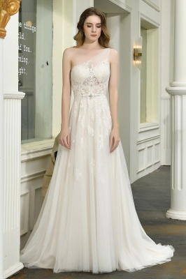 Elegant brewing dresses A line | Wedding dresses with lace_1