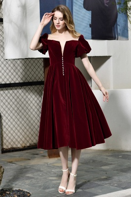 Evening dresses short wine red | Cocktail dresses cheap online_3