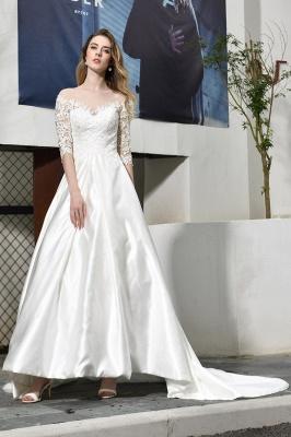 Standamt Hochzeitskleid A Linie | Brautkleider Lange Ärmel_7