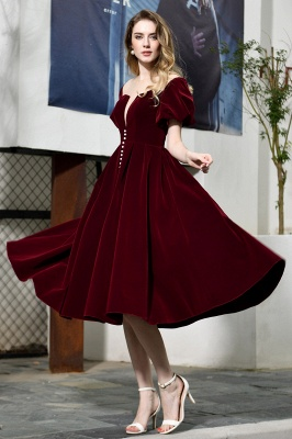 Evening dresses short wine red | Cocktail dresses cheap online_6