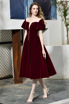 Evening dresses short wine red | Cocktail dresses cheap online_2
