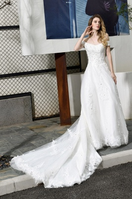 Beautiful wedding dresses with lace | Wedding dress A line_7