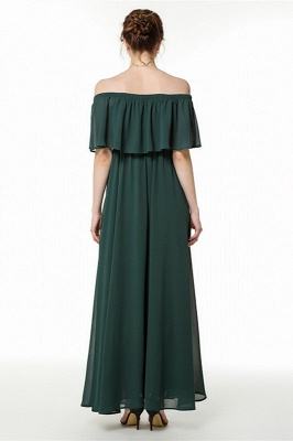Chiffon dresses | Evening dress dark green_3