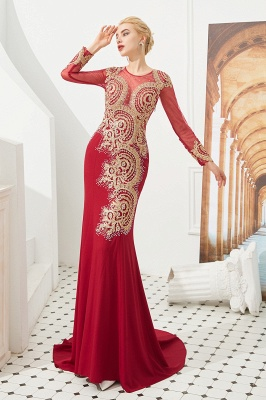 Evening dress long red | Prom dresses with sleeves_2