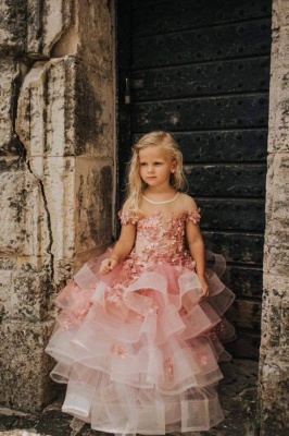 Flower girl dress dusty pink | Wedding flower girl dress_1