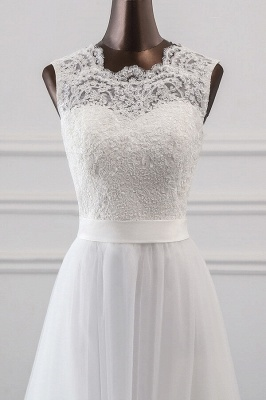 Designer wedding dress A line | Bridal wear with lace_5