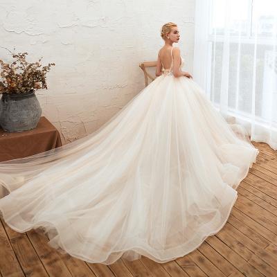Elegante Brautkleider A linie | Hochzeitskleider mit Spitze Online_7