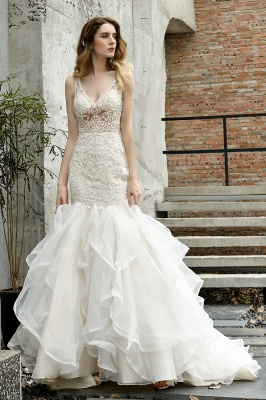 Fashion wedding dress with lace | Mermaid wedding dress_11