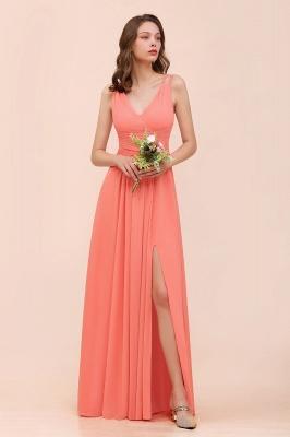 Schlichte Brautjungfernkleider Lang | Coral Brautjungfernkleid Günstig_4