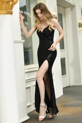 Evening dress long black | Prom dresses with glitter_8