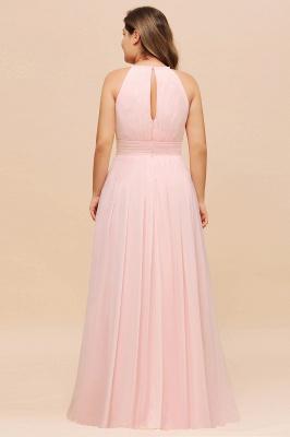 Rosa Brautjungfernkleider Große Größe   Übergroße Brautjungfernkleid_3