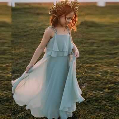 Blumenmädchenkleider für Kinder | Blumenmädchen Kleid Hellblau_4