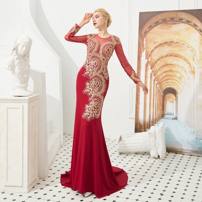 Evening dress long red | Prom dresses with sleeves_9