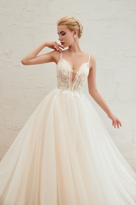 Elegant wedding dresses A line | Wedding dresses with lace online_12