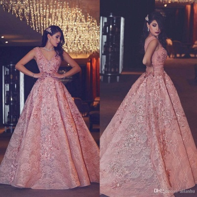 Pink Quniceanera Dresses 2021 Lace A Line Prom Dresses Evening Gowns Cheap_2