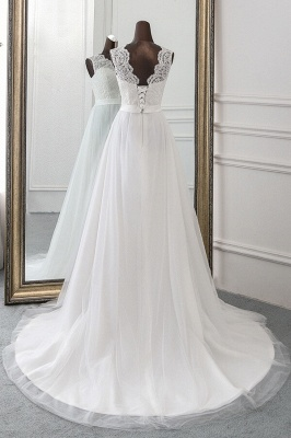 Designer wedding dress A line | Bridal wear with lace_3