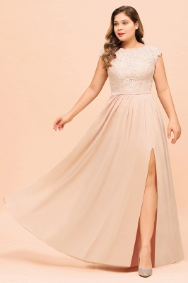Champagne Übergroße Brautjungfernkleider | Brautjungfernkleid Große Größe_7