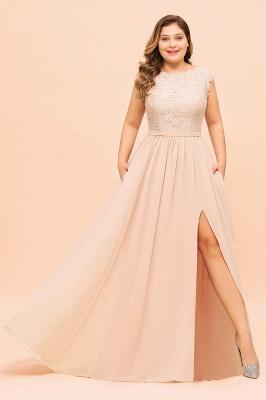 Champagne Übergroße Brautjungfernkleider | Brautjungfernkleid Große Größe_4
