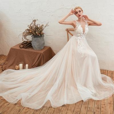 Schöne Hochzeitskleid A linie | Brautkleider Günstig Online Kaufen_4