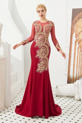Evening dress long red | Prom dresses with sleeves_4