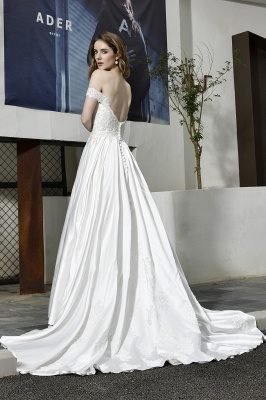 Simple wedding dresses cheap | Wedding dress A line_12