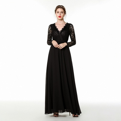Evening dresses long black | Festive dresses