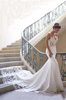 Brautkleid Meerjungfrau Vintage | Schön Hochzeitskleider mit Spitze_1