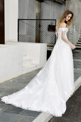 Beautiful wedding dresses with lace | Wedding dress A line_12