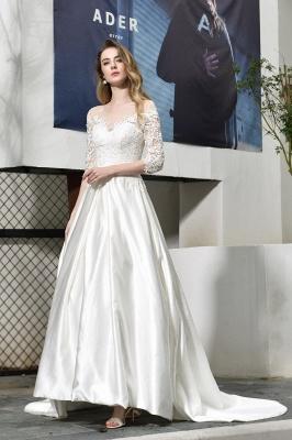 Standamt Hochzeitskleid A Linie | Brautkleider Lange Ärmel_5