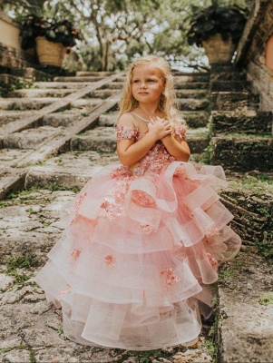 Flower girl dress dusty pink | Wedding flower girl dress_4