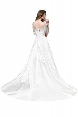 Standamt Hochzeitskleid A Linie | Brautkleider Lange Ärmel_3