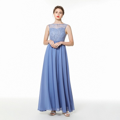 Designer evening dresses blue | Chiffon dresses